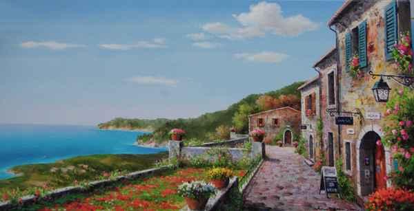 Village Poppies by  Soon Ju Choi  - Masterpiece Online