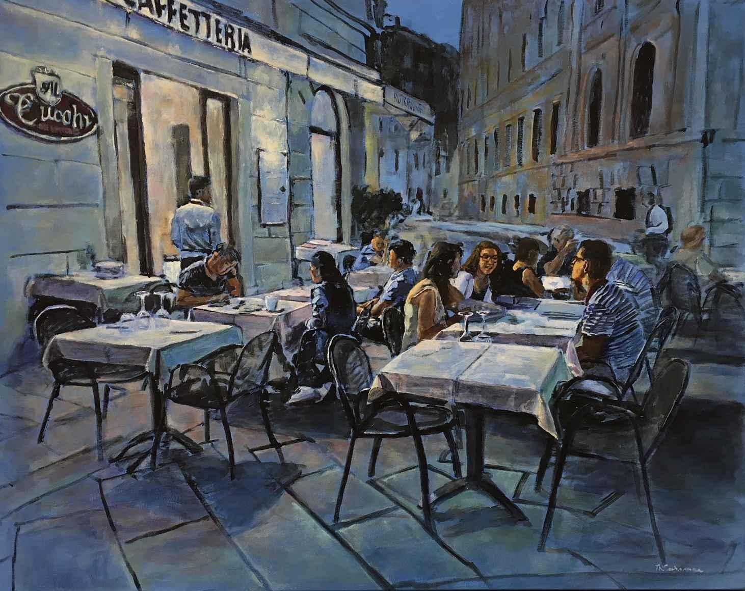 Evening Glow in Como by  Nadia Lassman - Masterpiece Online