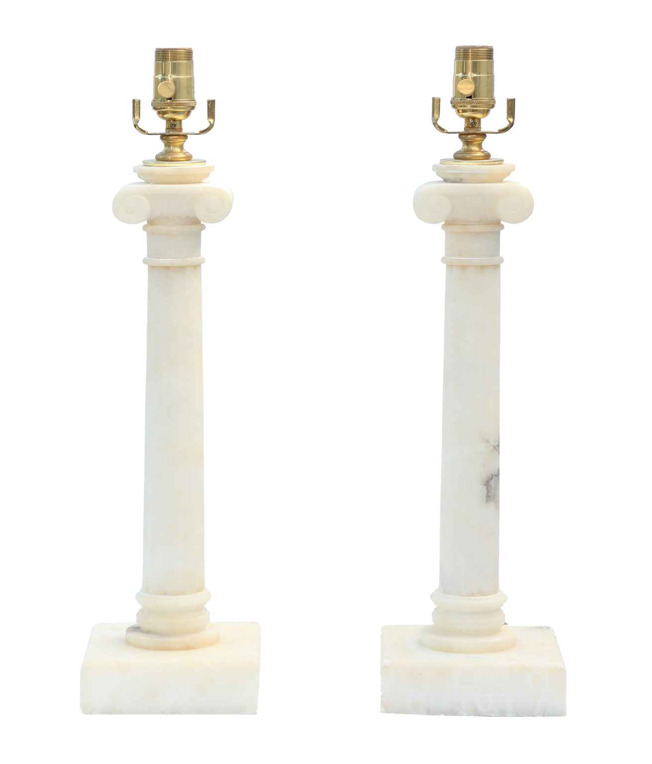 Pair of Alabaster Col... by  Italian  - Masterpiece Online