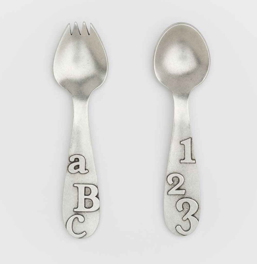 Spork and Spoon Set - ABC and 123