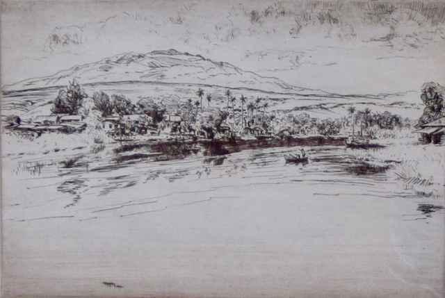 Mauna Kea from Hilo B... by  Huc-Mazelet Luquiens (1881-1961) - Masterpiece Online