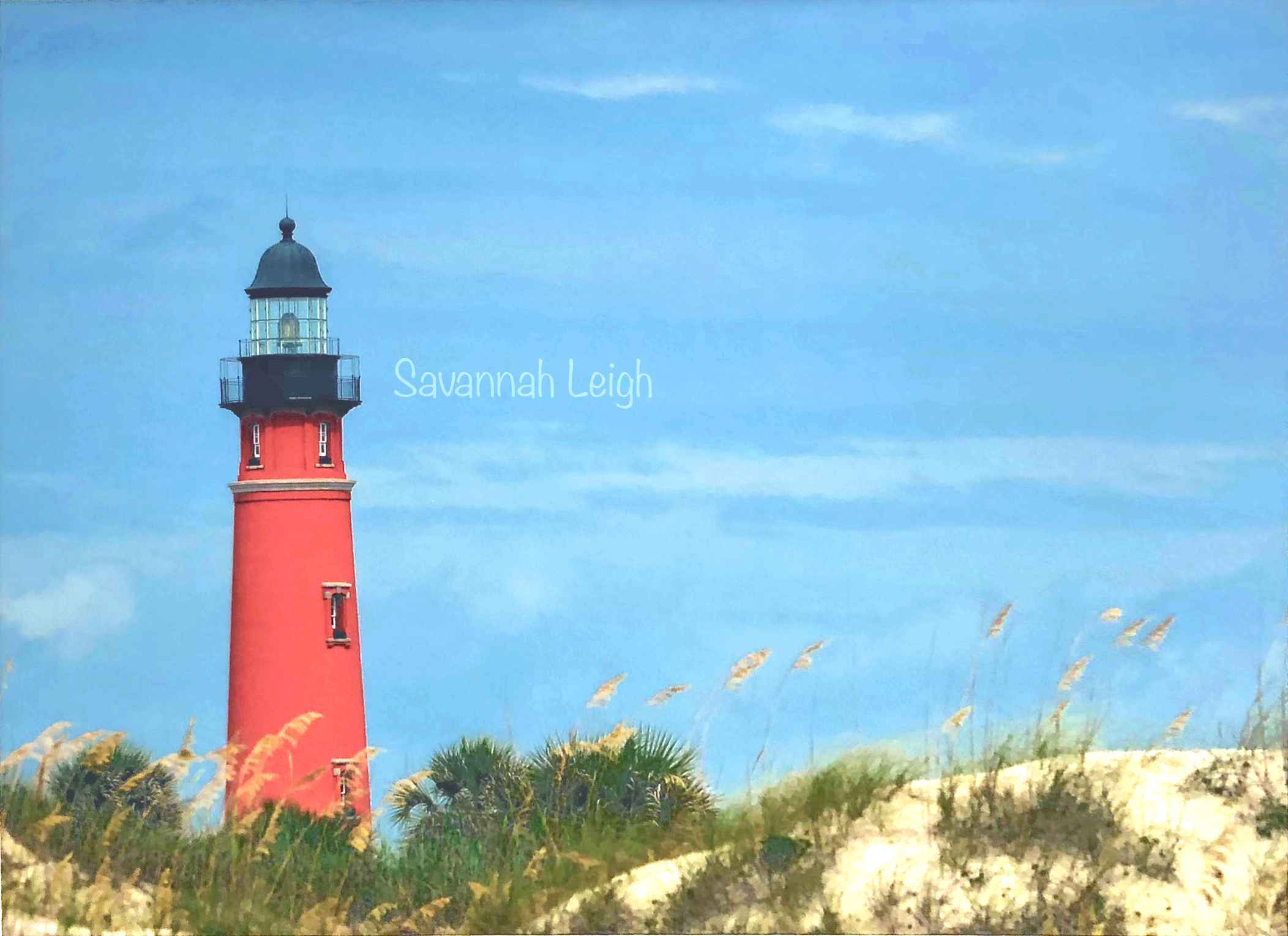 Ponce Inlet Lighthous... by  Savannah Leigh - Masterpiece Online