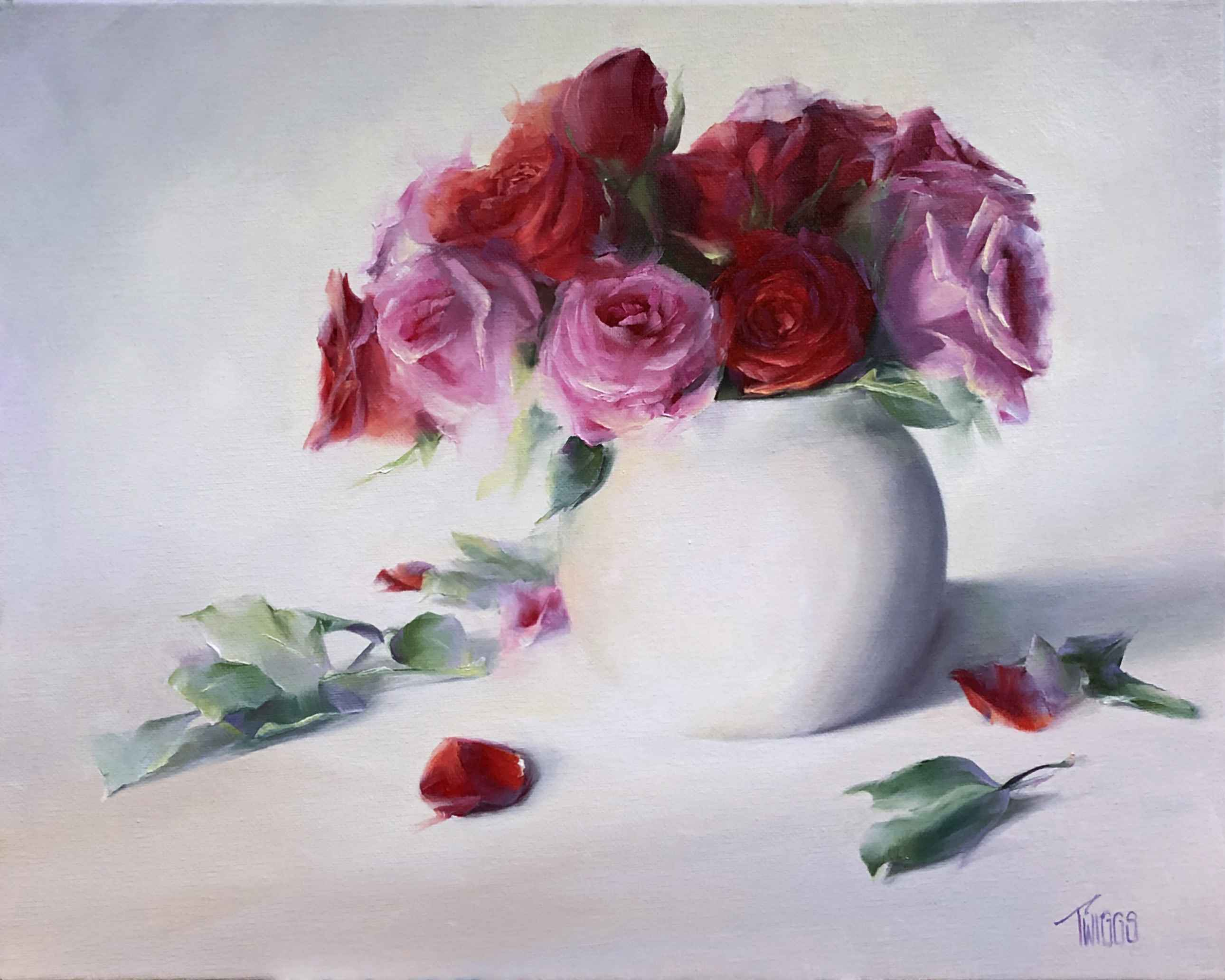 North Light Roses by  Lori Twiggs - Masterpiece Online