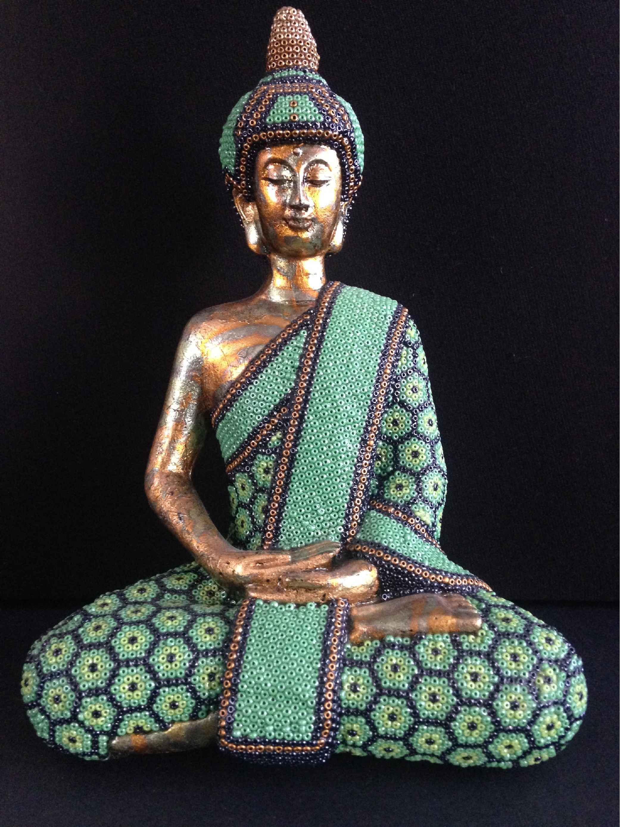 Little Buddha - Green by  Joshua  - Masterpiece Online
