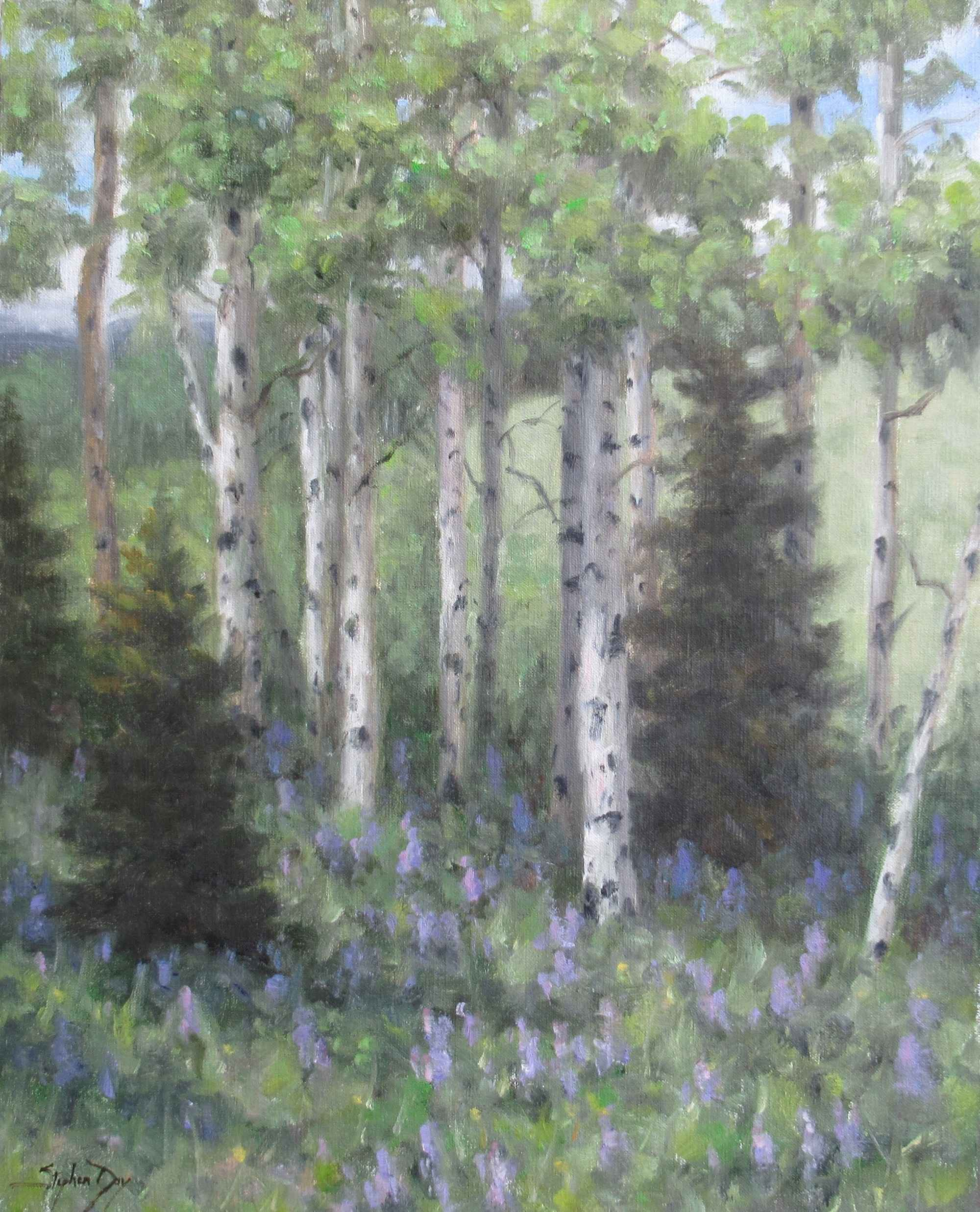 Aspen and Lupine by  Stephen Day - Masterpiece Online