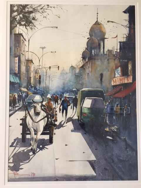 Street Scene III by  Pintu Sengupta - Masterpiece Online