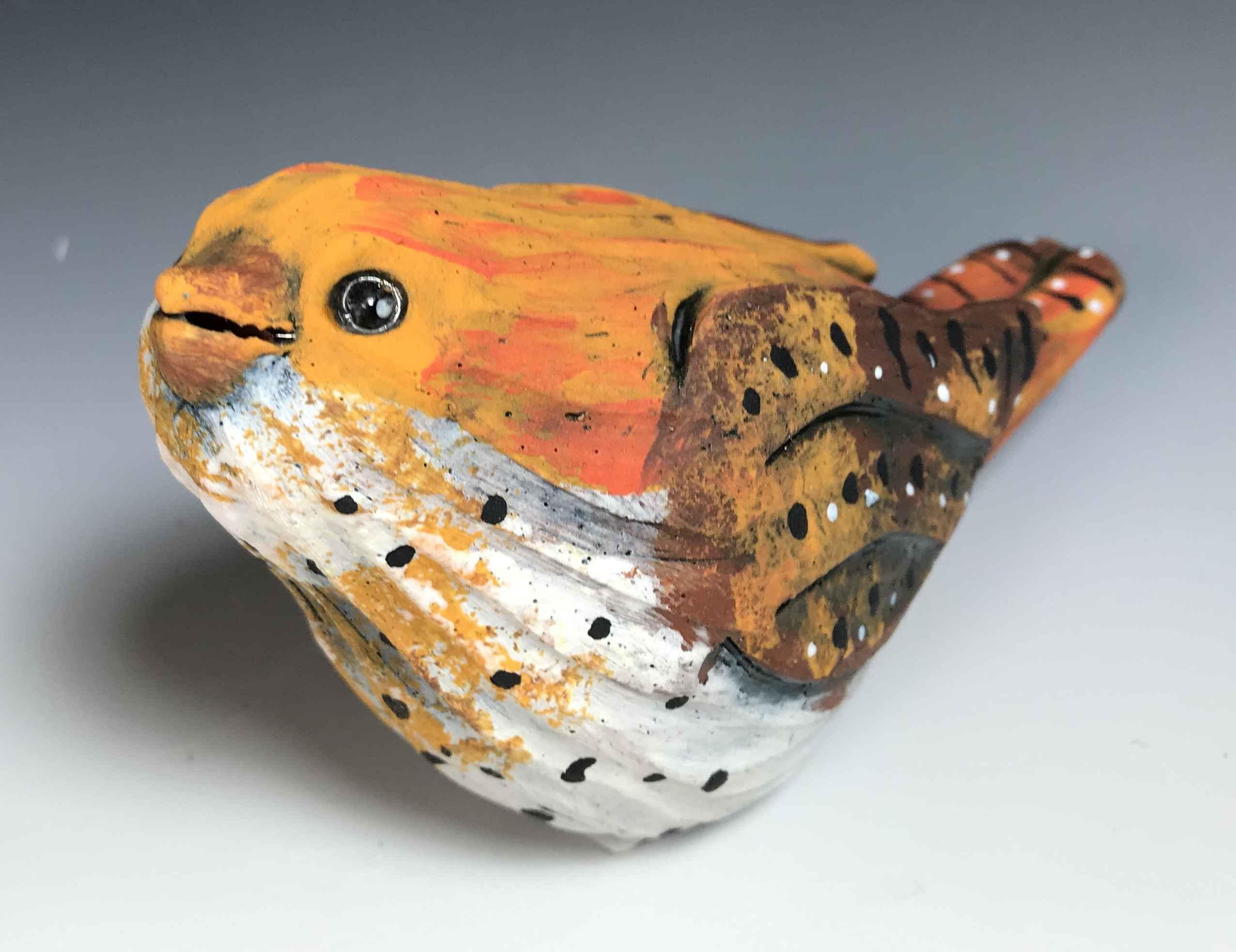 Bird (orange/white)