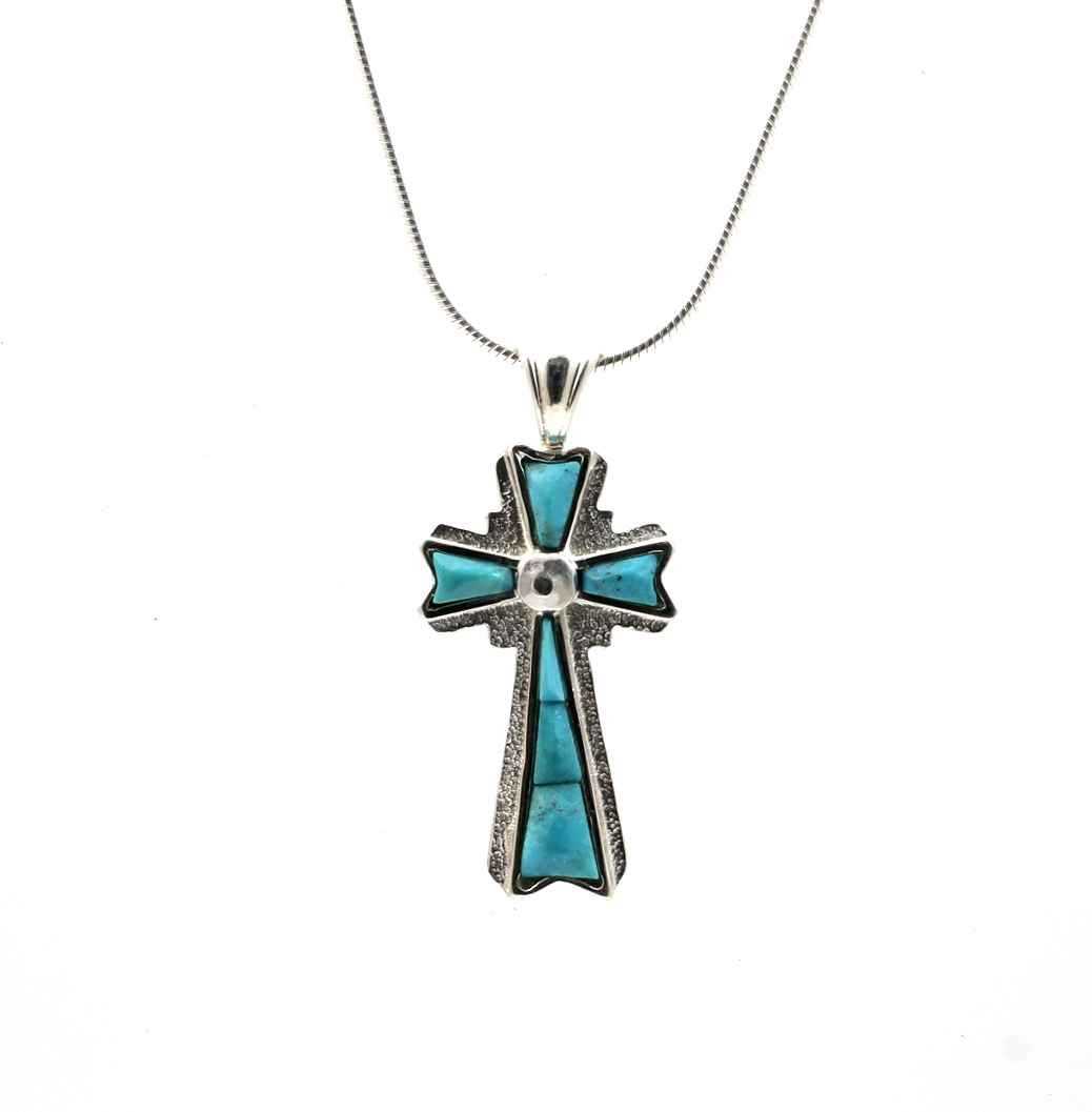Inlay Cross Pendant by  Ben Nighthorse - Masterpiece Online
