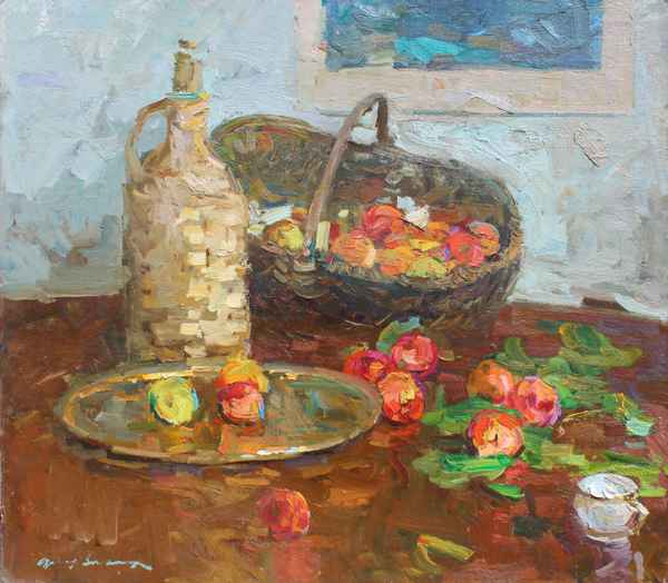 Still Life with Apples represented  by  Fedor Zakharov