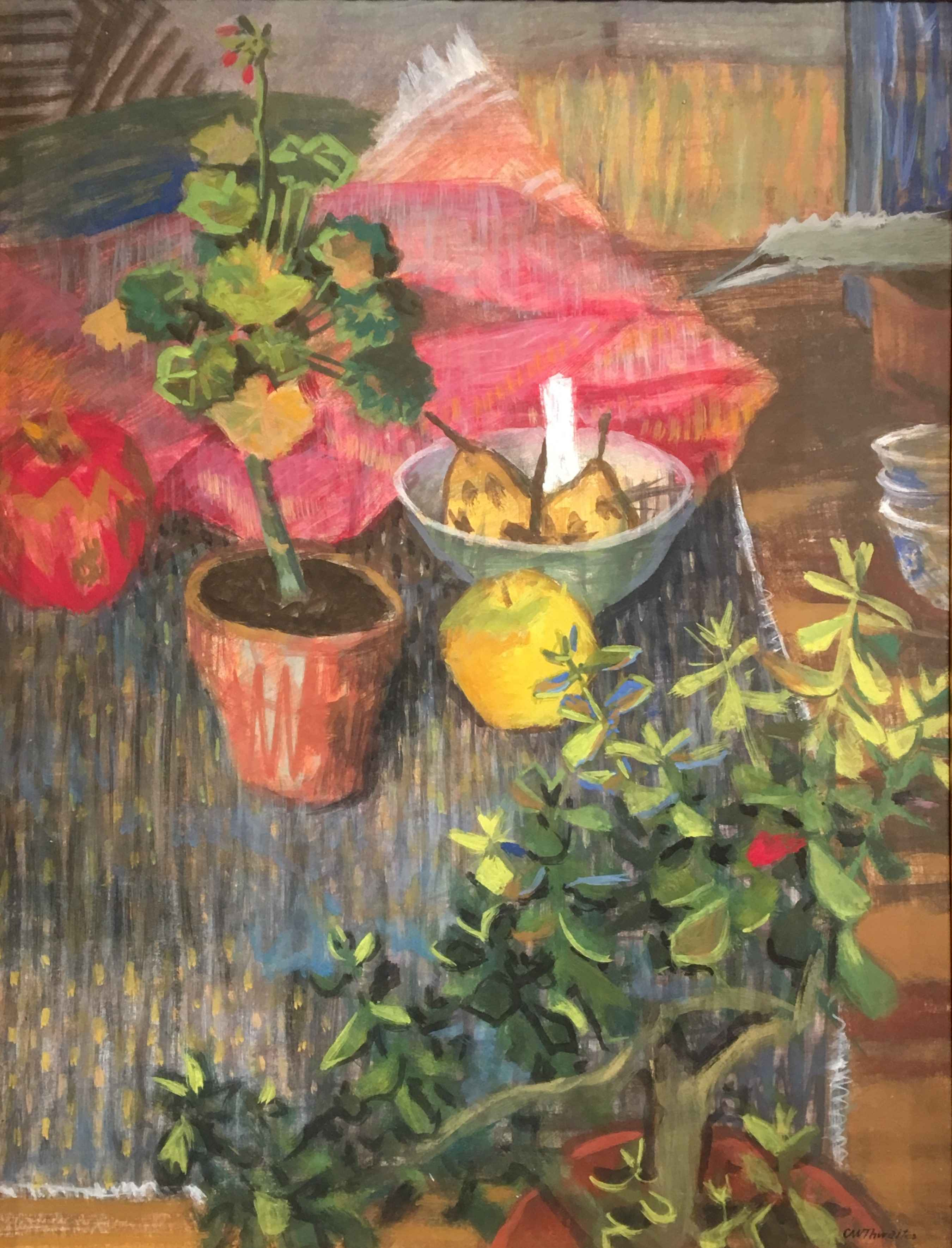 Still Life with Geran... by Mr. Charles Thwaites - Masterpiece Online