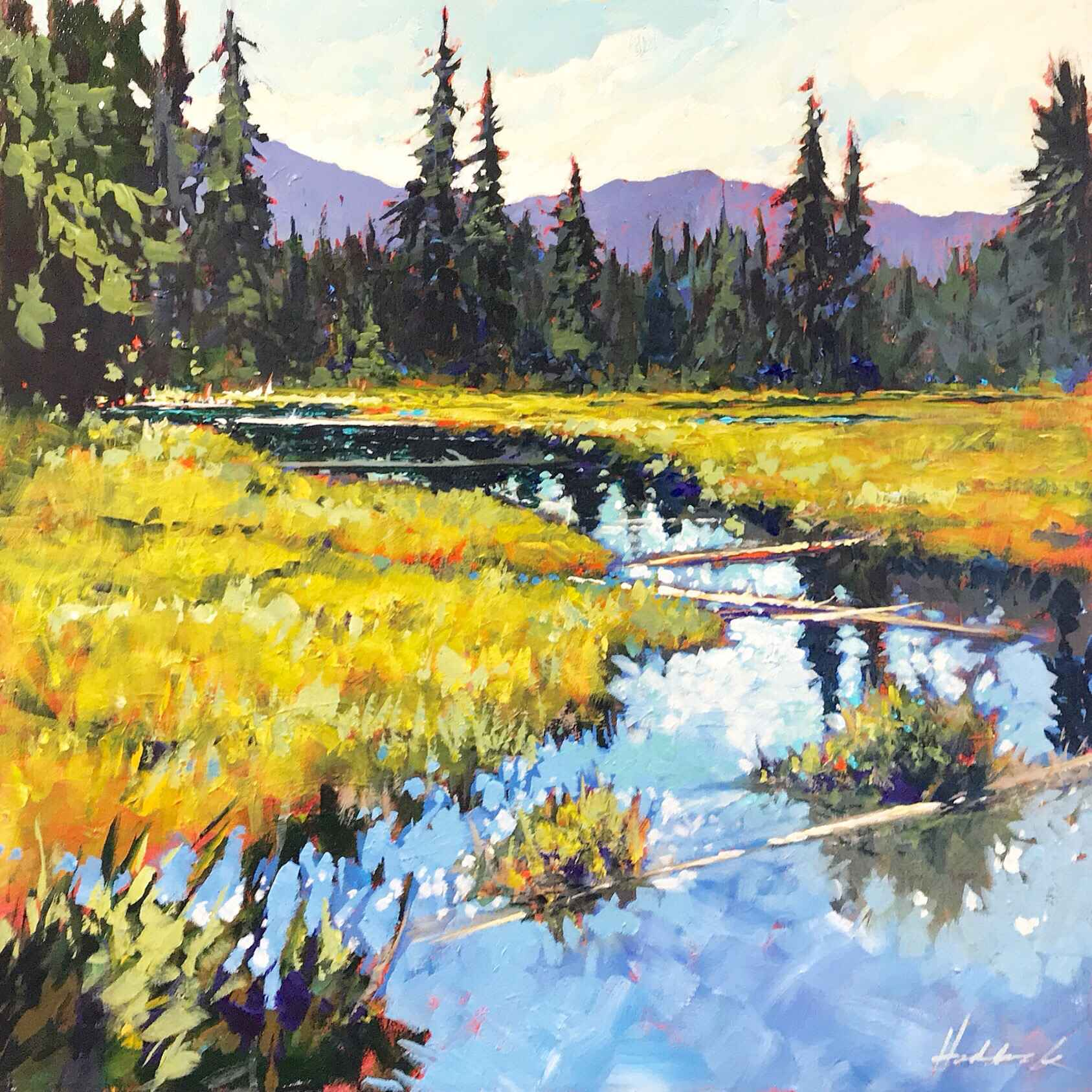 Marsh Greens by  Perry Haddock - Masterpiece Online
