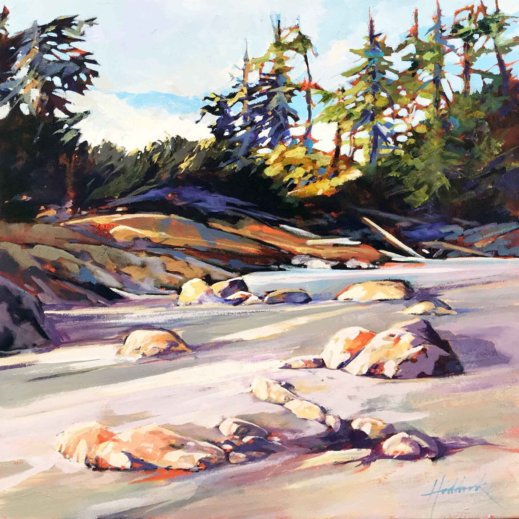 Evening Light Cox Bay by  Perry Haddock - Masterpiece Online