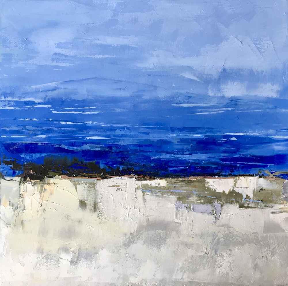 Peaceful Blue  by  Sandra Pratt