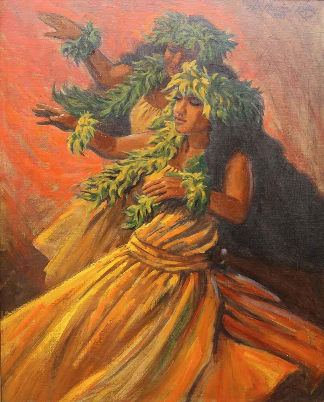 Hula Dancers by  Herb Kawainui Kane (1928-2011) - Masterpiece Online