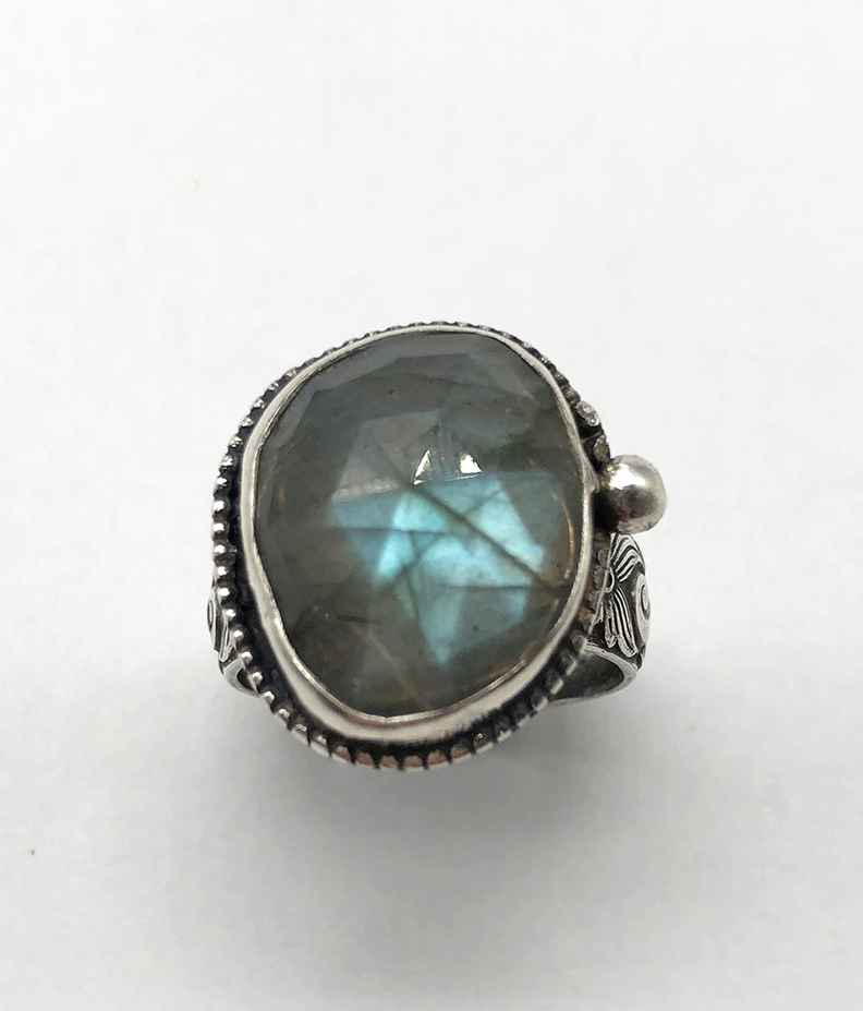 Labradorite and Sterling Ring Size 7