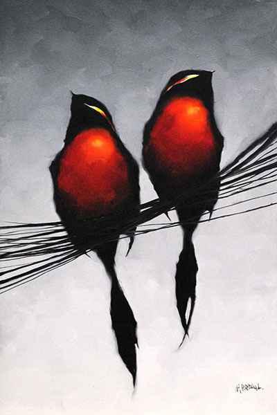 Red Birds 181150 by  Harold Braul - Masterpiece Online