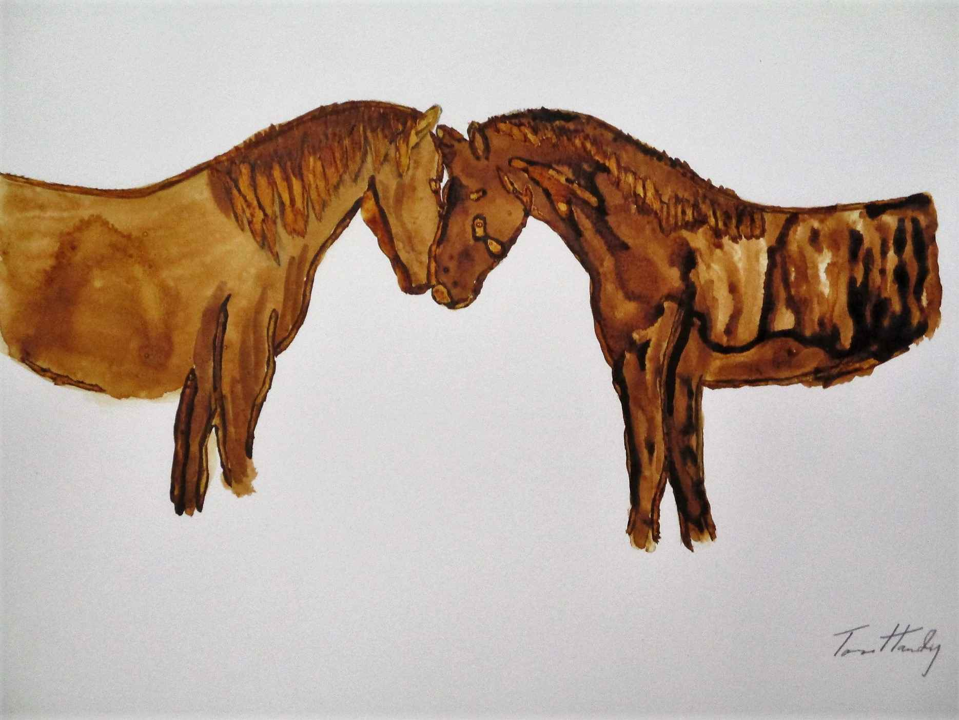 Unknown (two horses) by  Tom Hardy - Masterpiece Online