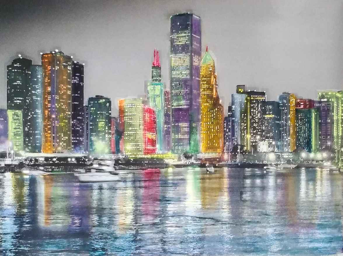 Chicago Skyline by  Projet PHOTOPAINT - Masterpiece Online