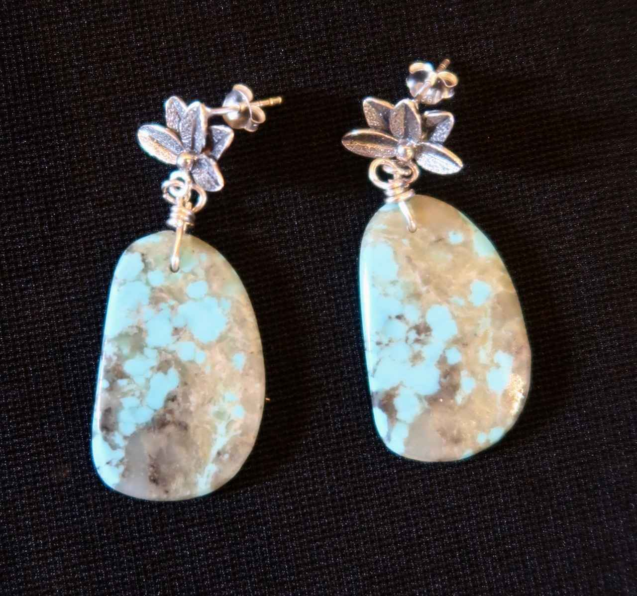 Turquoise Oblong Earr... by Mrs. Rebecca Mach - Masterpiece Online