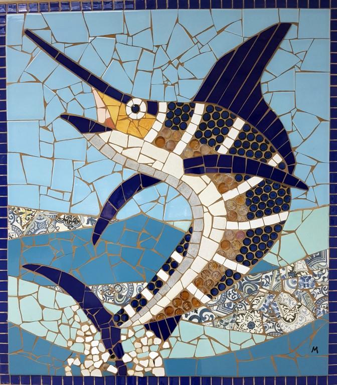 Blue Marlin33x37 by  Melanie Blomgren - Masterpiece Online
