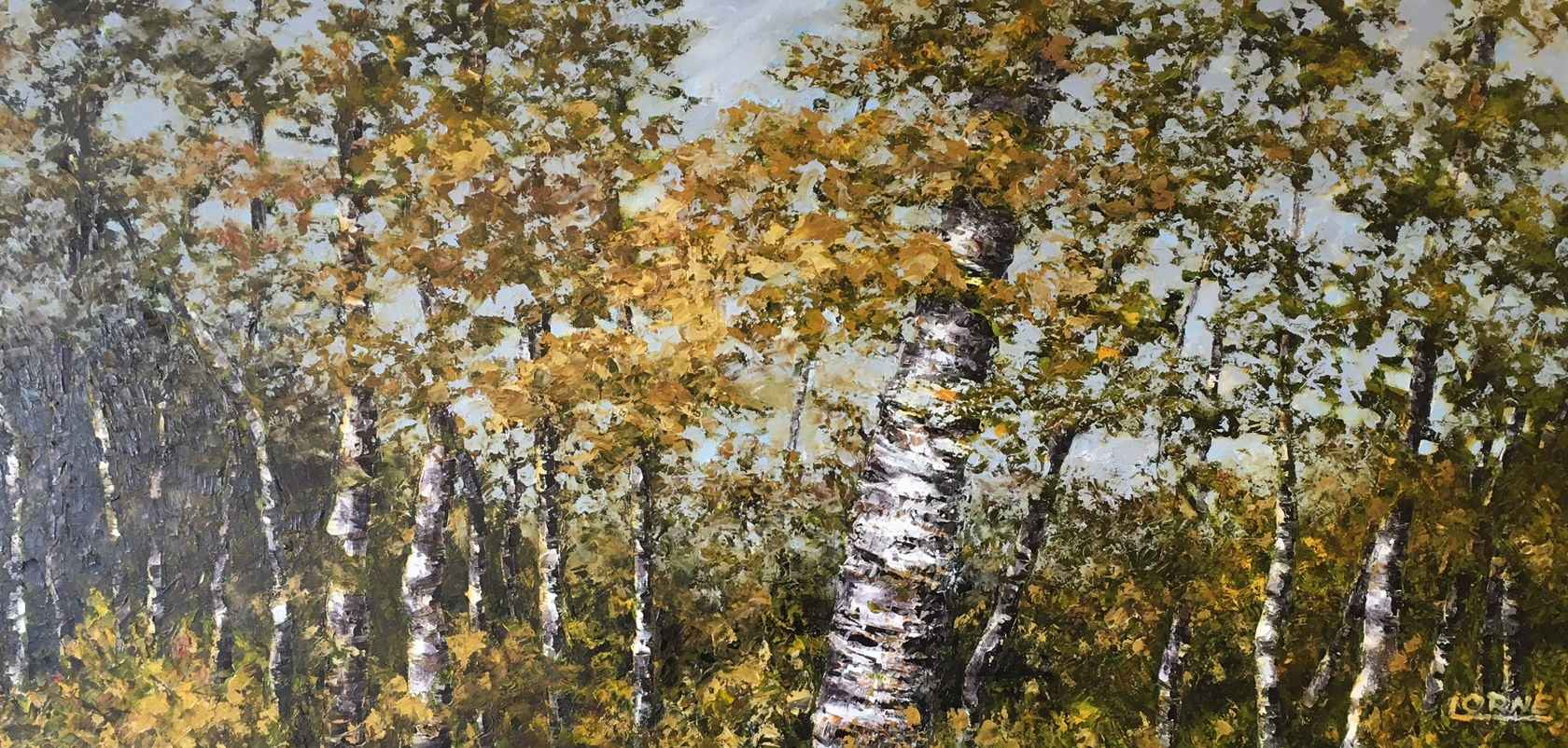 Rustling Birch Leaves by Mr. Lorne McDermott - Masterpiece Online