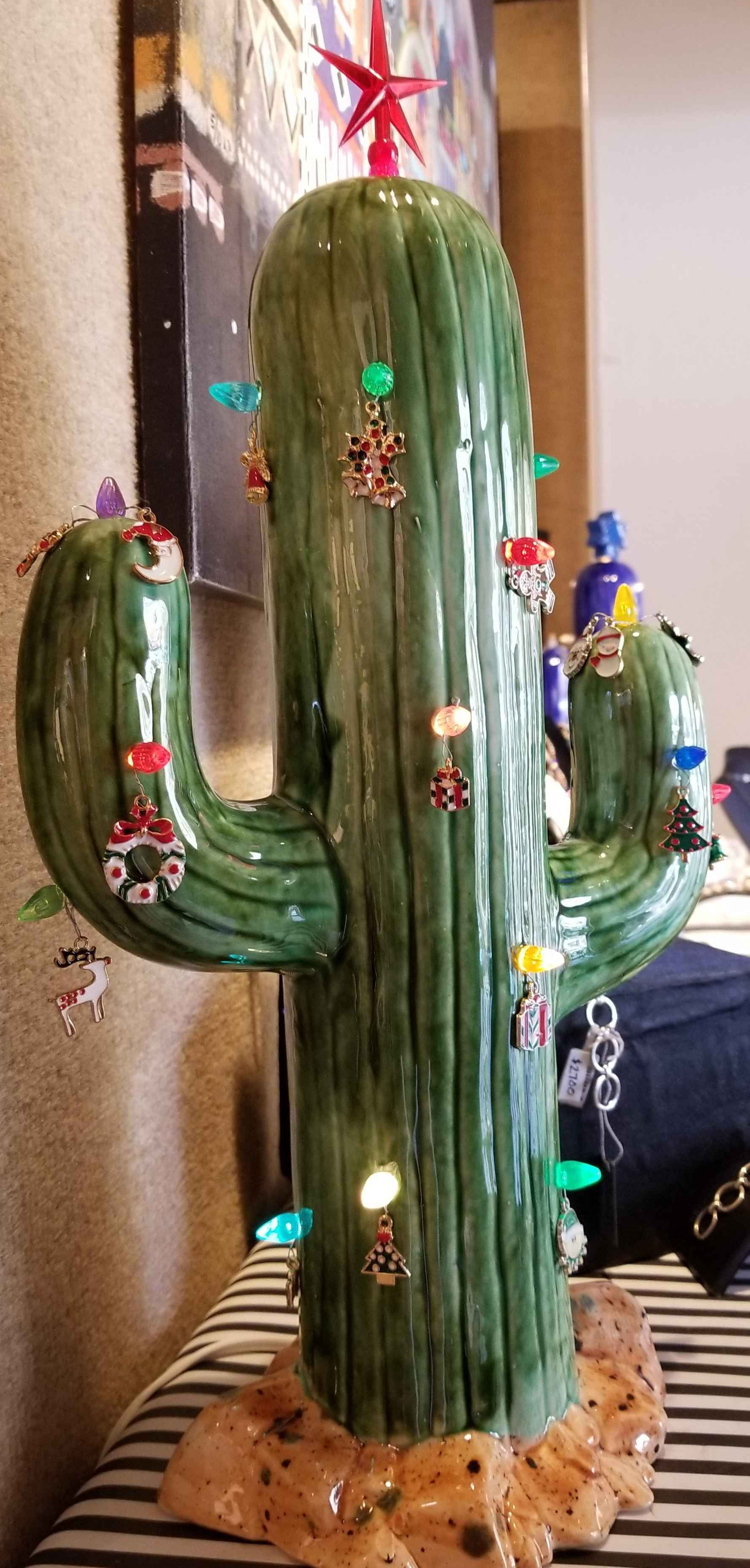 Christmas Cactus Lamp... by  Joe Chaffee - Masterpiece Online