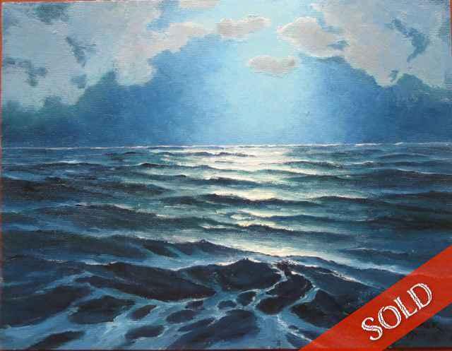 Moonlight at Sea by  Charles (C.S.) Marek (1891-1979) - Masterpiece Online