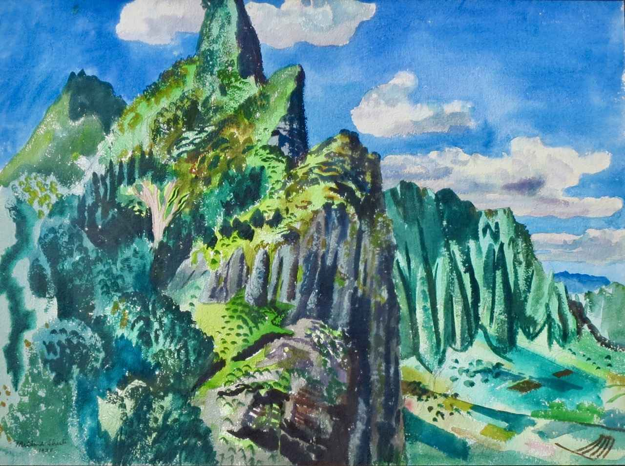 Top of the Pali by  Millard O. Sheets (1907-1989) - Masterpiece Online