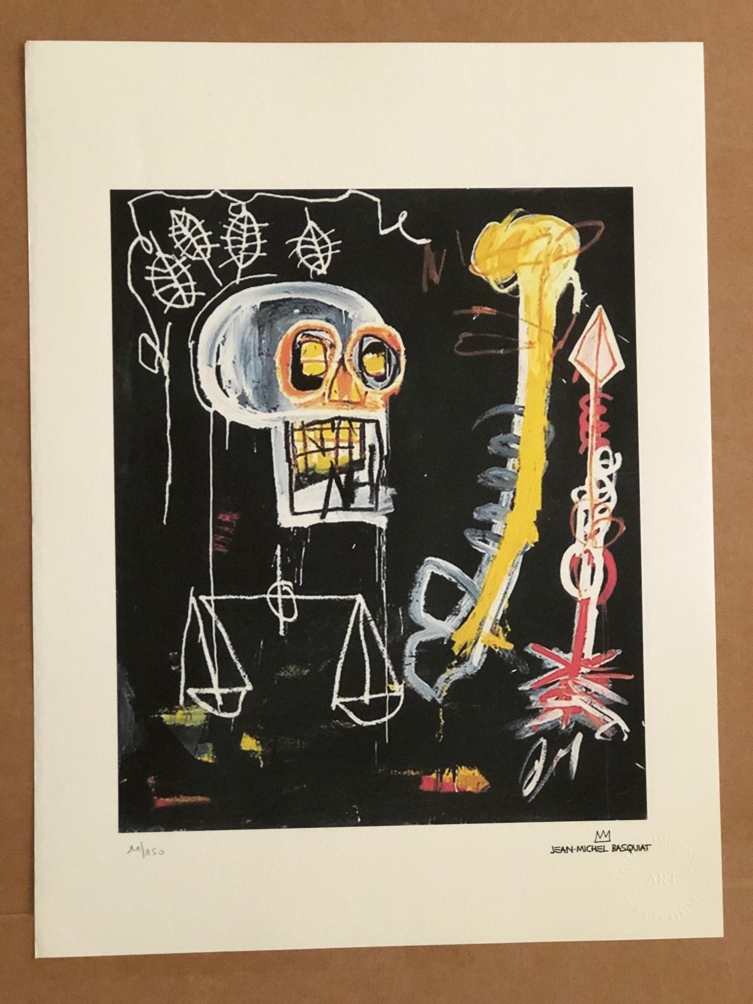 Untitled (Black Skull) by  Jean-Michel Basquiat - Masterpiece Online
