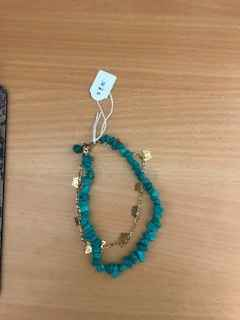 Stone and Gold Anklet by Mrs Larissa Hale - Masterpiece Online
