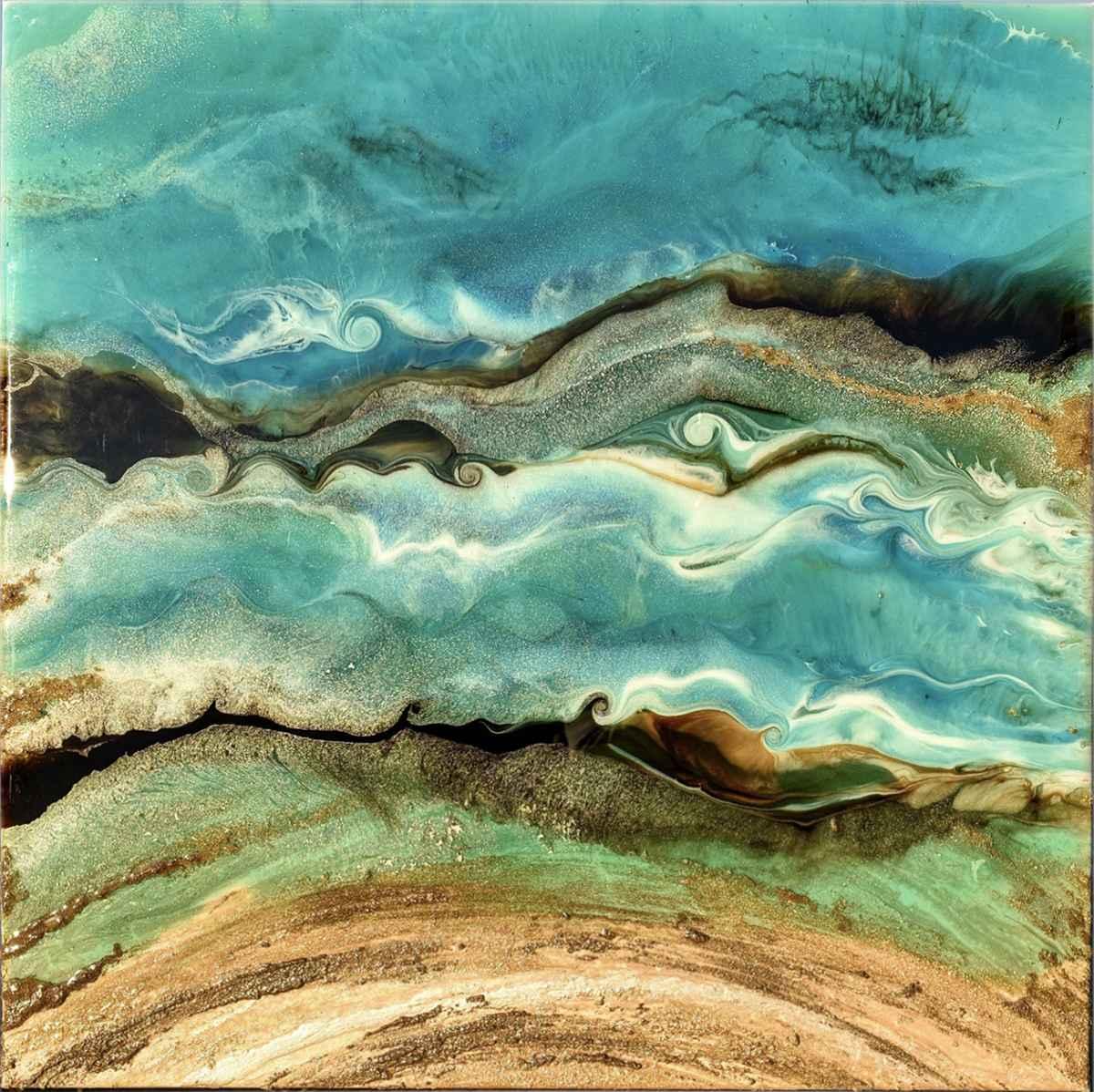 Golden Sea I by  Joscelyne Drew - Masterpiece Online