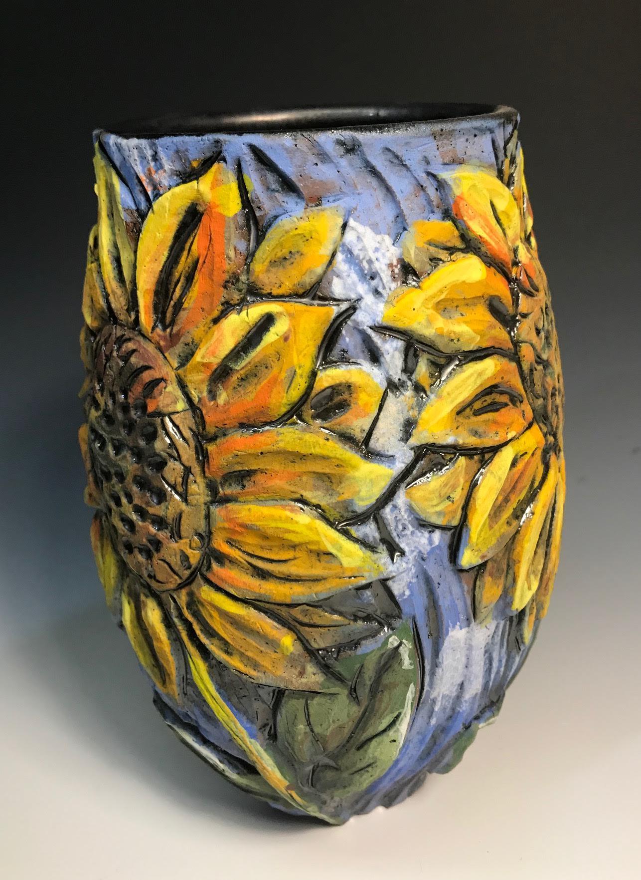 Large Sunflower Vase