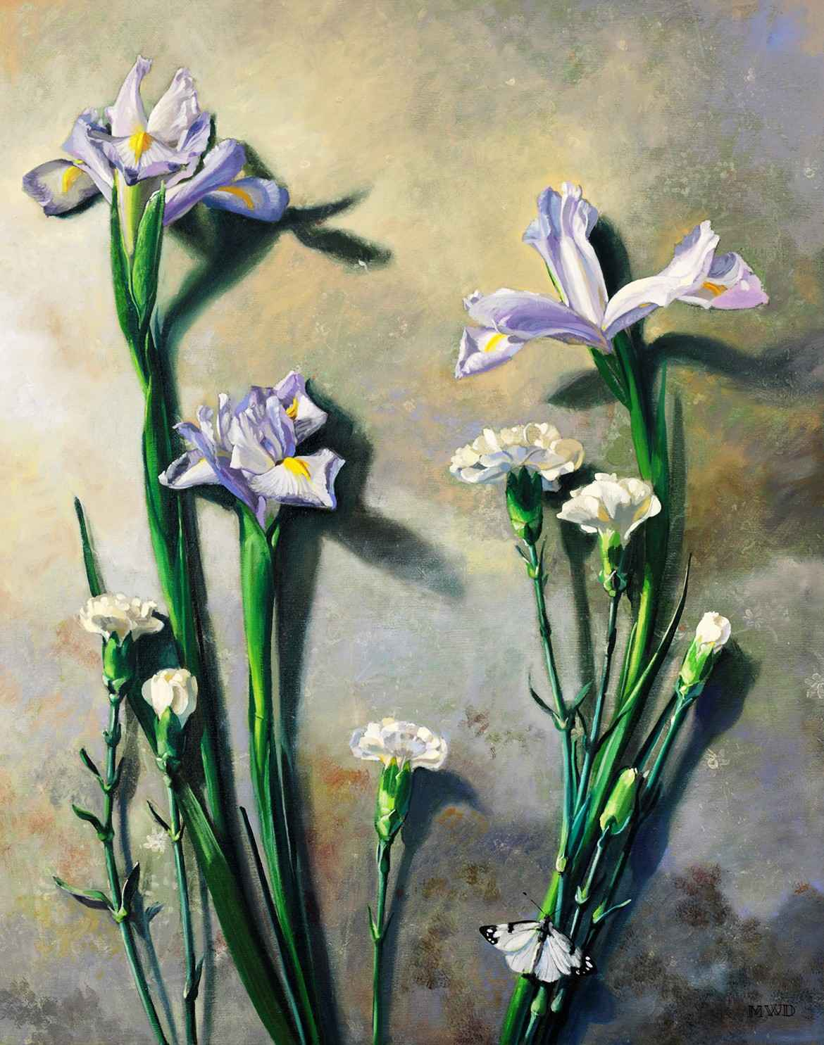Lavender and White  by  Michelle Waldele