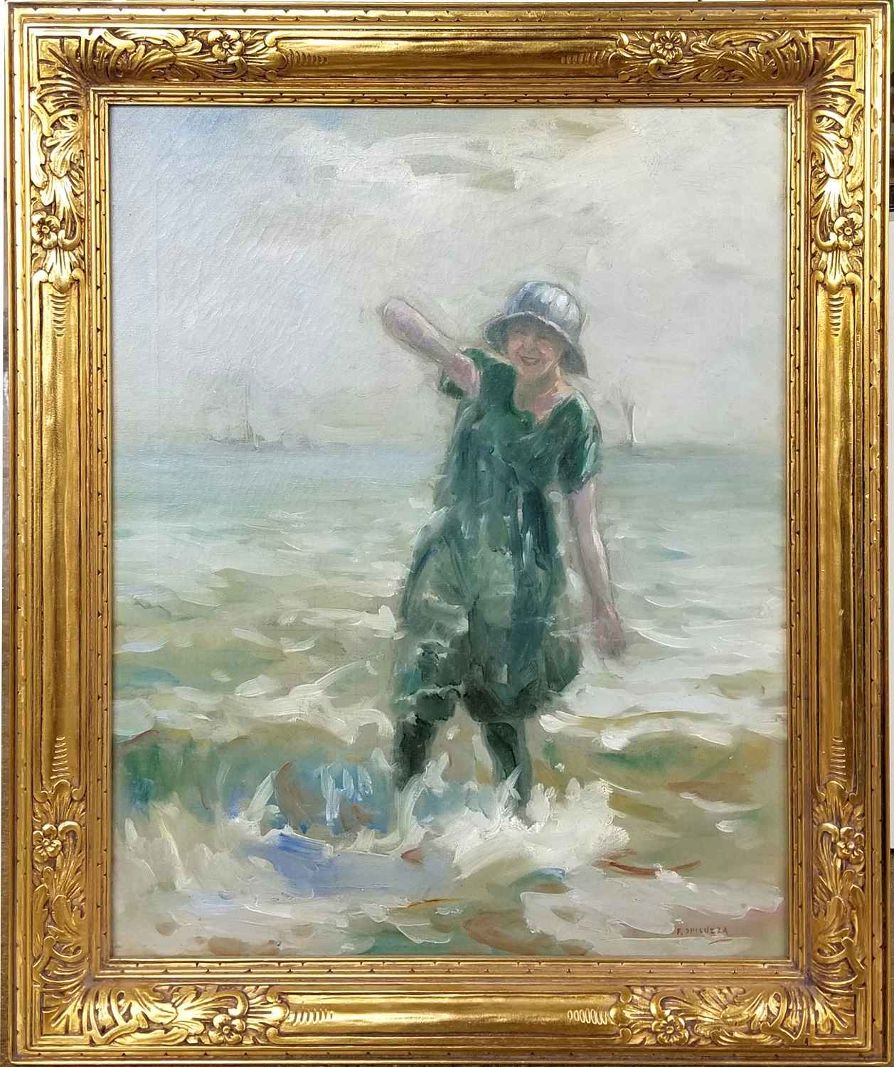 Wading in Lake Michig... by Mr. Francesco Spicuzza - Masterpiece Online