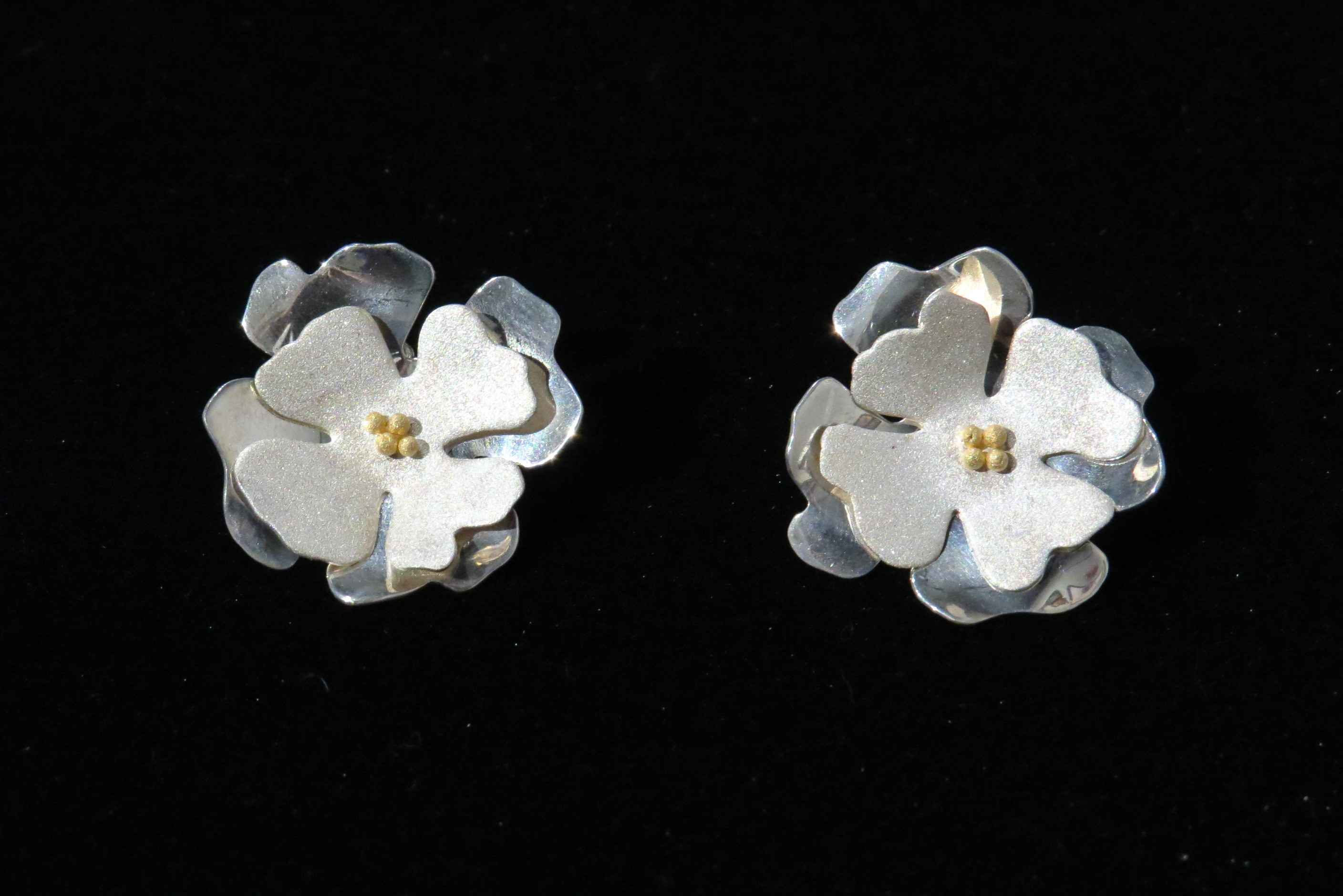 Small Flower Earrings... represented  by   Artisan Jewelry