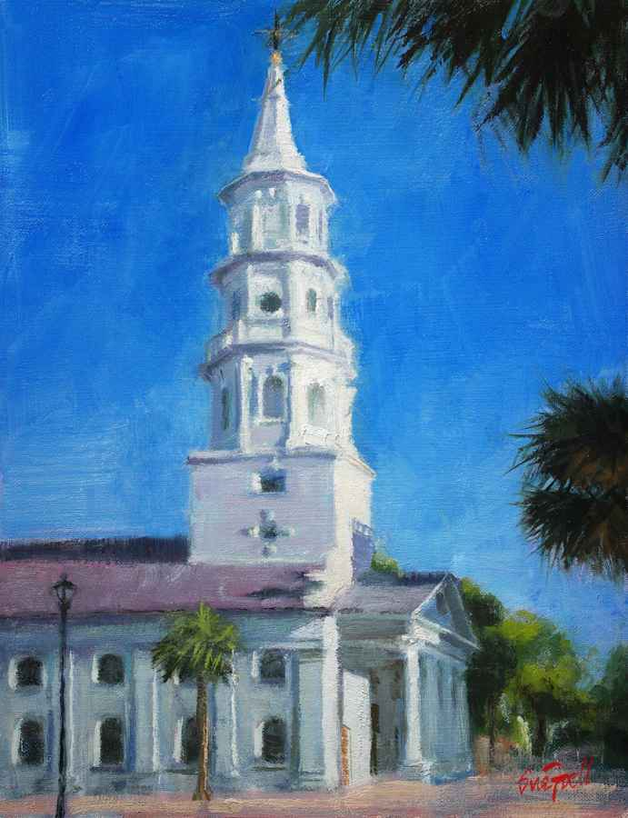 St. Michael's, Charle... by  Sue Foell - Masterpiece Online