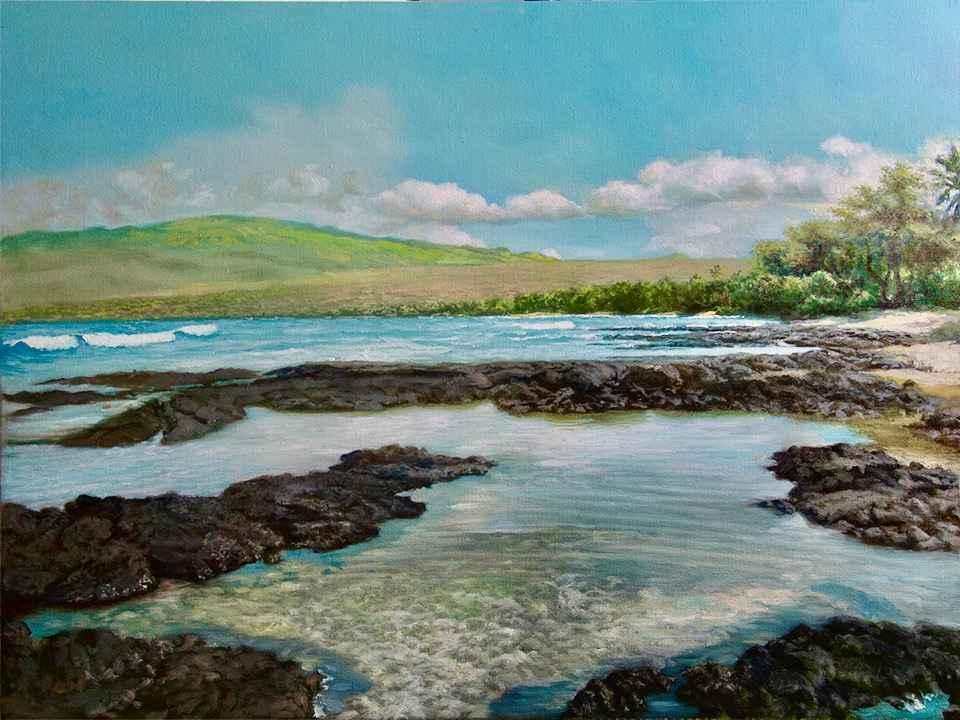 Puako Bay by  Edwin B. Kayton - Masterpiece Online