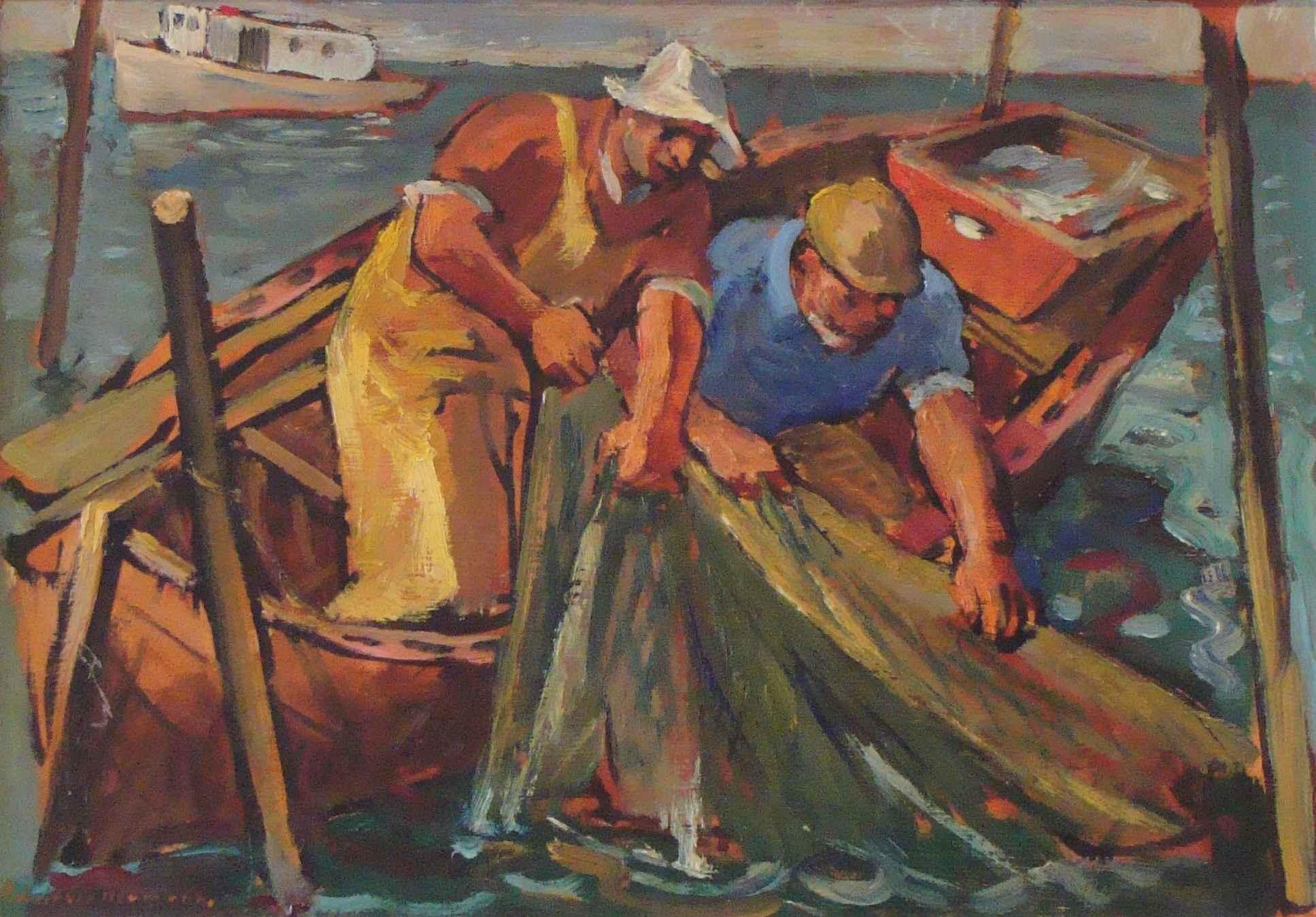Untitled (Two Fisherm... by Mr. Robert von Neumann - Masterpiece Online