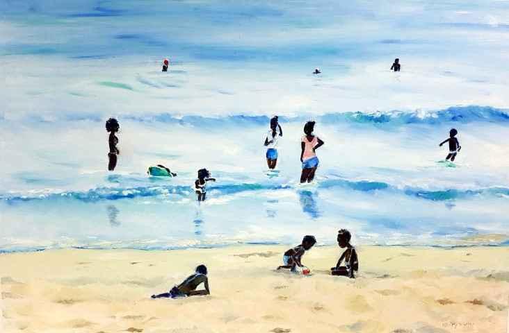 Bajan Bathers by Dr Hilary Warren - Masterpiece Online
