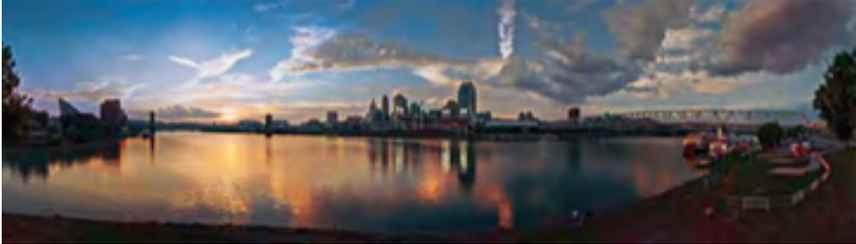 Cincinnati Skyline at...  by Mr. Thomas R. Schiff