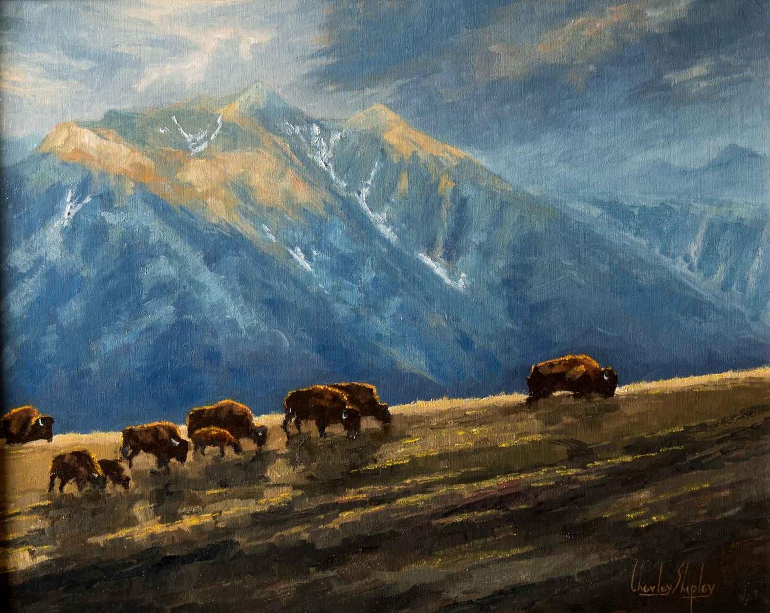 Working the Ridgeline by  Charley Shipley - Masterpiece Online
