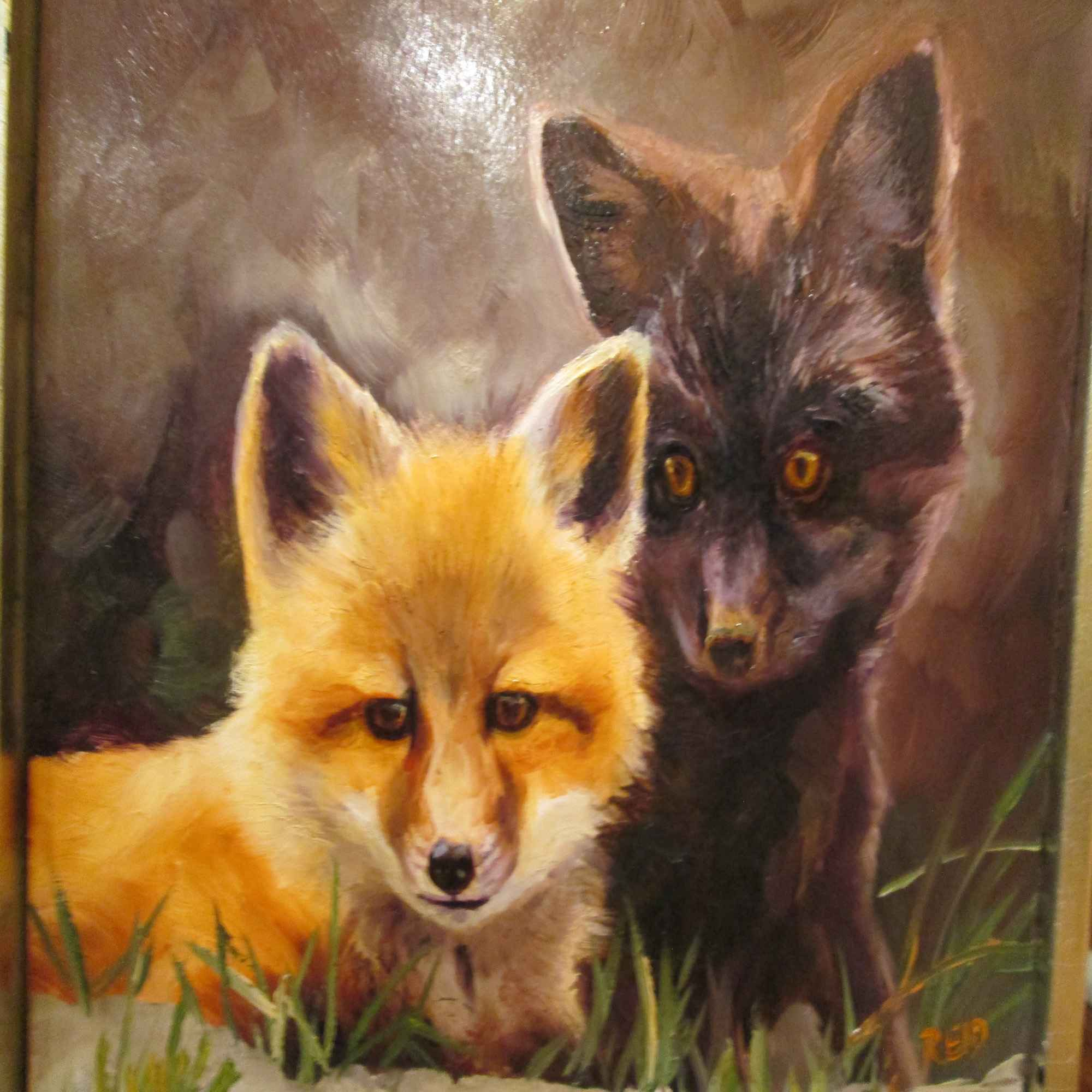 Fox Pups by  Sonia Reid - Masterpiece Online