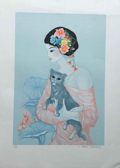 Cat in Arms by  Mara Tran Long - Masterpiece Online