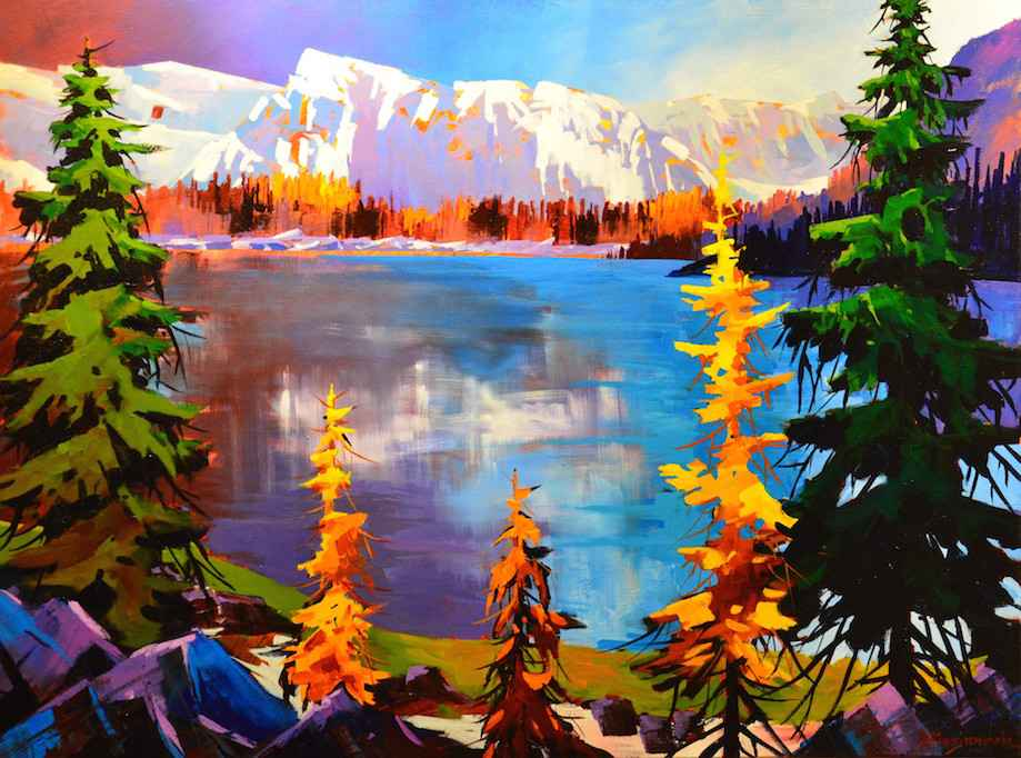 At Lake O'hara Shores by  Branko Marjanovic - Masterpiece Online
