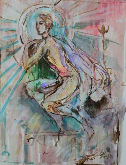 Untitled Flowing Gown... represented  by  Marta Wiley