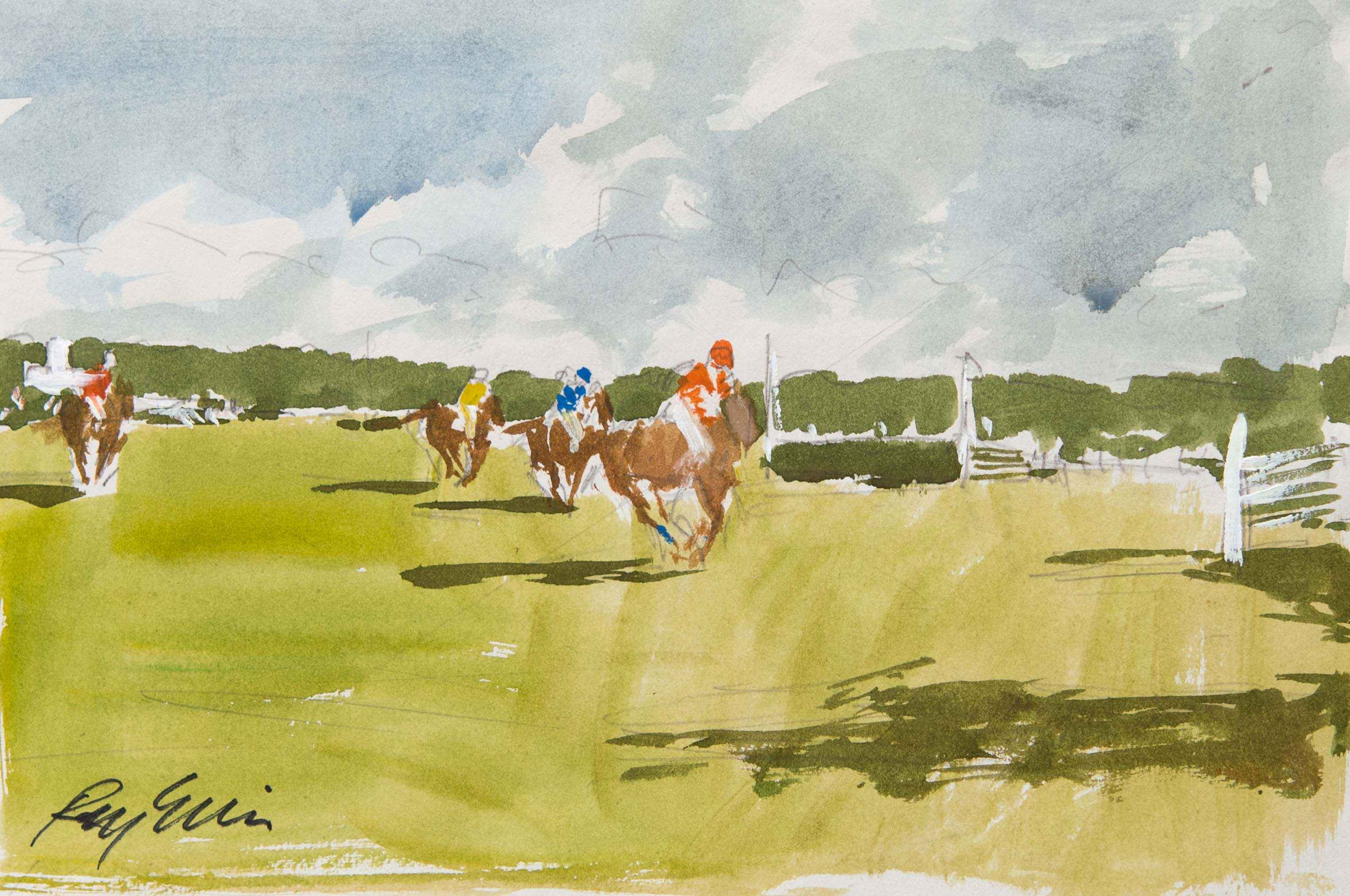To the Jump, sketch by  Ray Ellis - Masterpiece Online