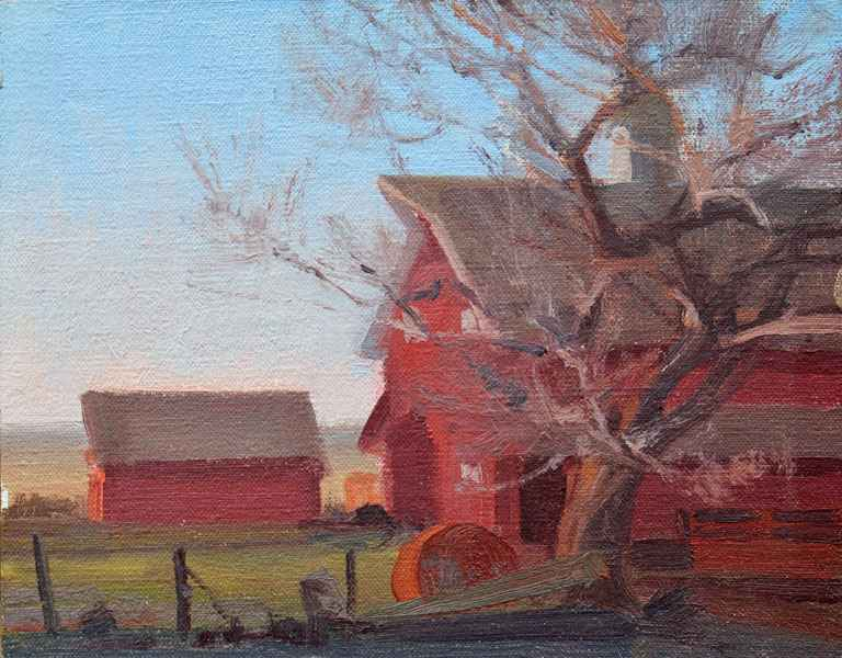 The Red Barn by  Michael Albrechtsen - Masterpiece Online