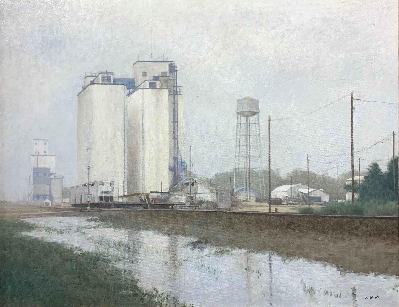 Lakin Grain Elevators... by  Brian Hinkle - Masterpiece Online
