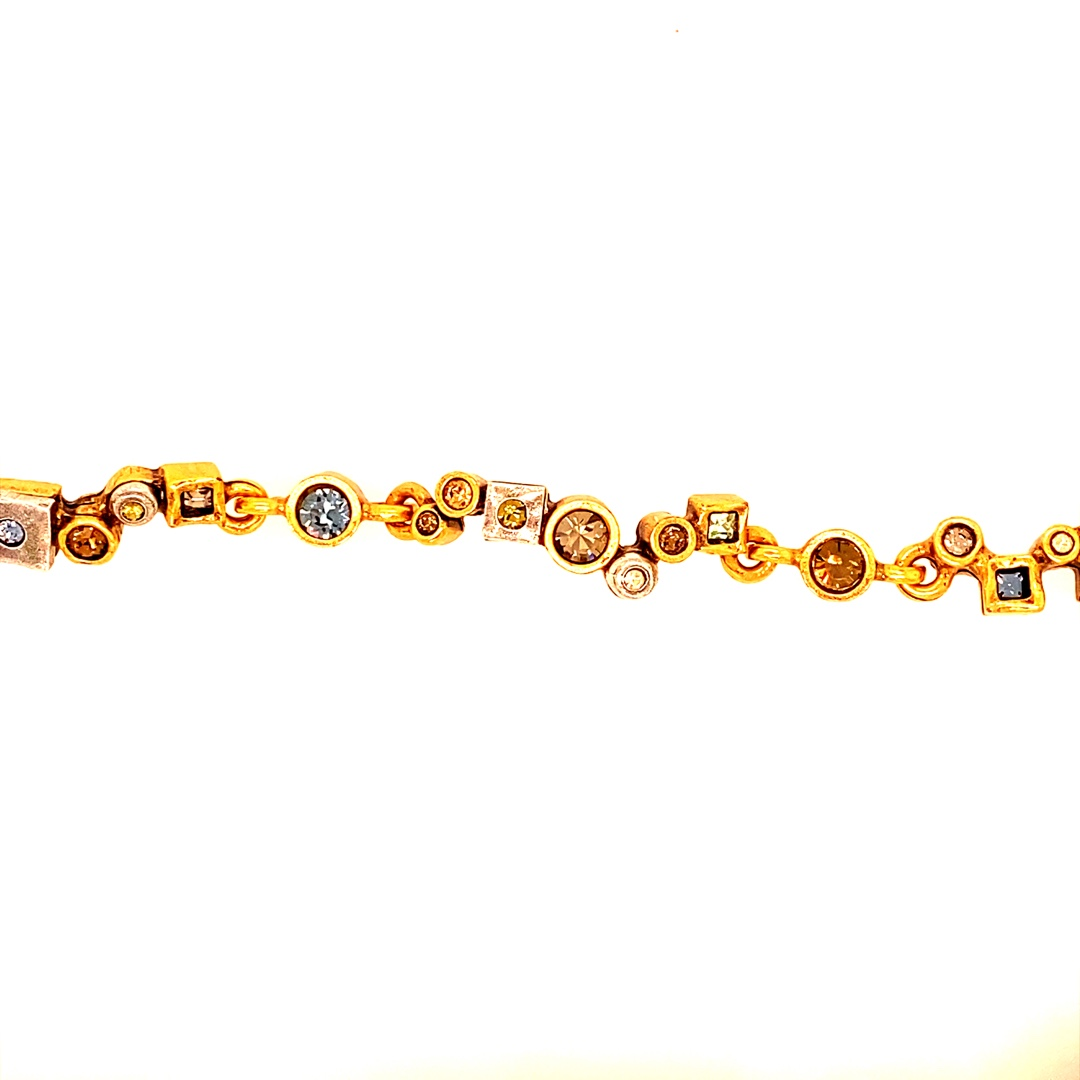 Garden Path Bracelet in Gold, Cascade