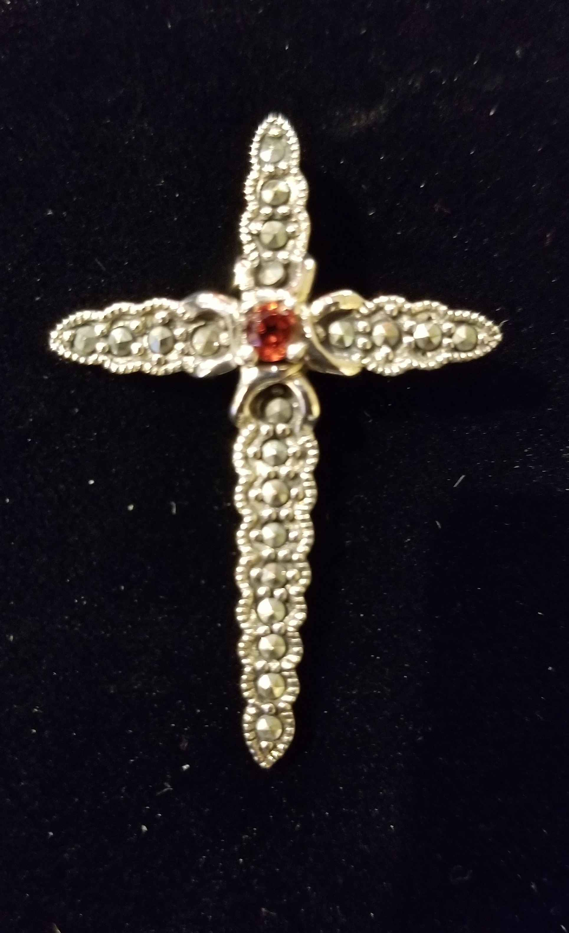 Pendant - Cross w/Ruby by  Gallery Pieces - Masterpiece Online
